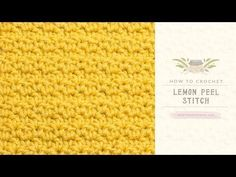 How To: Crochet The Lemon Peel Stitch - Easy Tutorial. Learn how to crochet the quirky Lemon Peel Stitch with this easy video tutorial! Difficulty Level: Easy How To: Crochet The Single Crochet Stitch: . How To: Crochet The Double Crochet Stitch: . Crochet Bobble, Stitch Crochet, Crochet Eyes, Bobble Stitch, Single Crochet Stitch, Tunisian Crochet, Learn To Crochet, Crochet Hairband, Waffle Stitch