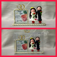 Wedding Souvenir Clay Couple Double Frame  https://www.facebook.com/media/set/?set=a.335001406646883.1073741836.125436300936729&type=3