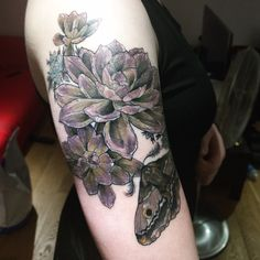 Succulent tattoo by Natalie Gardiner @ The Circle, London