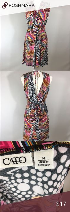 Cato dress Sleeveless M pattern Good condition B 19 inches M from the back 37 inches. All measurements are approximate. Cato Dresses Midi