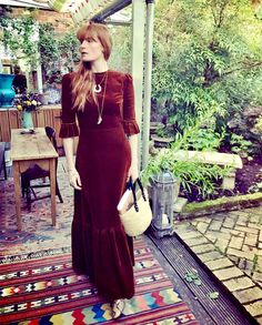 Headlining the 6th annual Festival of Writing & Ideas in County Carlow, Ireland this weekend, Vampire's Wife advocate, literary-warrior and all-round celestial being Florence Welch wears The Vampire's Wife Brown Cord Festival Dress. Have a great weekend, Florence.