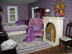 Crown Jewl Manor Lavender boudoir... the window needs a scene in it.