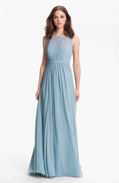 $280 Jenny Yoo 'Vivienne' Pleated Chiffon Gown   Nordstrom  Не могу решить, мне больше нравится в голубом или в графитовом.