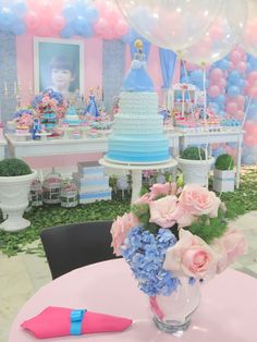CINDERELLA ~  birthday party theme