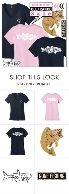 Reel Fishy Apparel Summer Sale! by mada-malureanu on Polyvore featuring Trend Lab, summerstyle, Tee, summersale, reelfishyapparel and beachbonfire