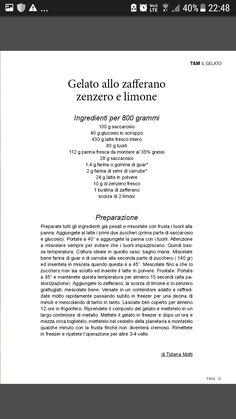 Gelato allo zafferano, zenzero e limone