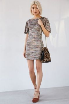 Ecote Mabel Flutter Sleeve Mod Mini Dress - Urban Outfitters