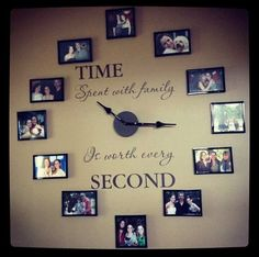 A unique way to put pictures on the wall. Love it! #pictures #family #frame