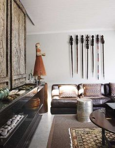 Cool ethnic mix in this family home in Johannesburg.