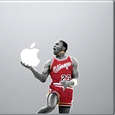 Adesivo divertido para Macbook - Michael Jordan