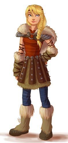 Older Astrid in 2D. :) (fan art)