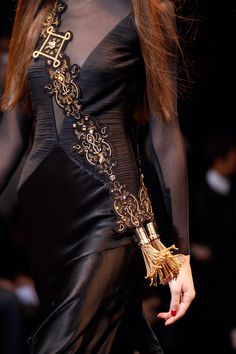 Ornate and unusual sash Versace FW 2014/ 2015