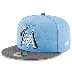 the latest 72198 f6387 Miami Marlins New Era 2017 Father s Day 59FIFTY Fitted Hat - Heather Blue -   35.99 New