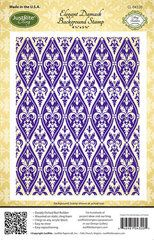 JustRite - Cling Mounted Rubber Stamps - Elegant Damask Background