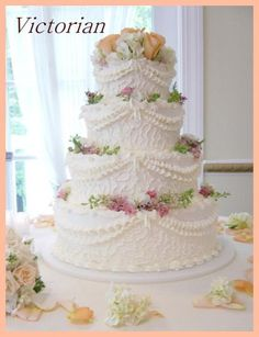 victorian wedding cakes photo