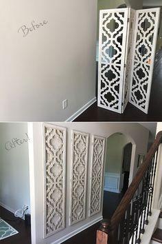 Room divider from Hobby Lobby, large wall art, easy cheap project... - http://centophobe.com/room-divider-from-hobby-lobby-large-wall-art-easy-cheap-project/ -