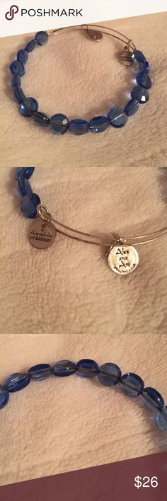 Blue Crystal Alex and Ani Blue crystal expandable Alex and Ani bracelet Alex & Ani Jewelry Bracelets