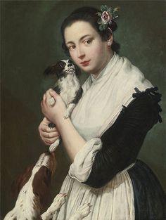Giacomo Ceruti - Young Lady with Two Dogs | da irinaraquel
