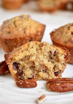 Frozen Desserts, Just Desserts, Dessert Recipes, Pecan Recipes, Sweet Recipes, Bread Recipes, Pecan Pie Muffins, Roasted Pecans, Fall Baking