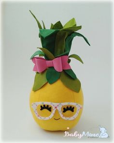 Felt pineapple mexican/tropical party, READY TO SHIP, Cake topper, party table decor, nursery decor Bob Hairstyles With Bangs, Baby Mine, Party Table Decorations, Flamingo Party, Tropical Party, Party Cakes, Wool Felt, Nursery Decor, Cake Toppers