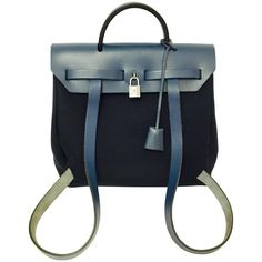 Hermes Her Bag Backpack/Satchel | From a collection of rare vintage backpacks at https://www.1stdibs.com/fashion/handbags-purses-bags/backpacks/