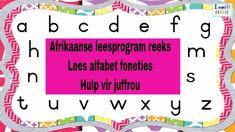 Ek kan - Afrikaanse leesprogram reeks - Lees die alfabet foneties - Hulp... Afrikaans, The Creator