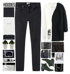 """Hoodie / 39"" by dddawn ❤ liked on Polyvore featuring Acne Studios, MM6 Maison Margiela, Kenzo, Gucci, Sloane Stationery, Living Proof, e.l.f., philosophy, Aesop and Maison Margiela"