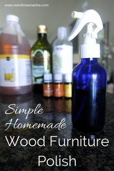 Simple Homemade Wood Furniture Polish |Overthrow Martha #DIYcleaning #YLEO #essentialoil
