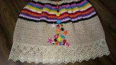 Saia de crochet pra minha neta.