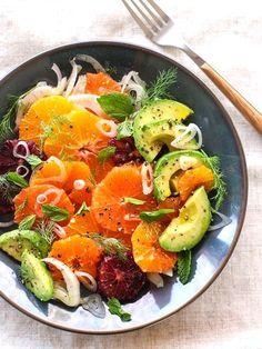 citrus fennel + avocado salad
