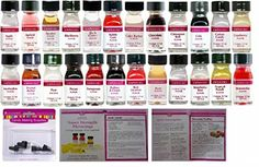 LorAnn Oils Gourmet Flavors (No Oils) 1 Dram Variety Bundle #2 (Pack of 24) Plus 4 Dram Droppers and 2 Recipes LorAnn Oils http://www.amazon.com/dp/B00YICMHJ8/ref=cm_sw_r_pi_dp_SO27vb0GZ32ZQ