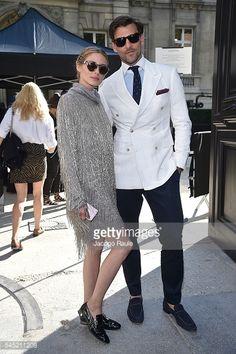 Fotografia de notícias : Olivia Palermo and Johannes Huebl arrives at...