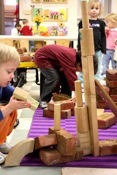 Incorporating bricks into block play