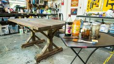 DIY Tea Stained Table