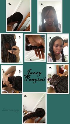 Jazzy-ponytail #hairtutorial #relaxedhair #protectivestyle