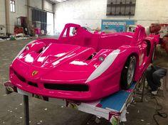 Cama Ferrari Rosa