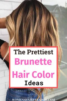 Are you looking to add blonde highlights to your brown hair or are you looking to get balayage ombre hair color this fall? Autumn hair color is also another beautiful hair color idea that suits brunettes. Check here to see brunettes hair color ideas with pictures. #brunettes #haircolor #fallhaircolors #fallhair #hair #haircolorideasbrunettes