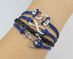 Infinity pirates of the Caribbean anchor by lovelybracelet on Etsy, $4.99