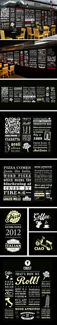 I Love Crust - Hand rendered typographic wall mural on Behance