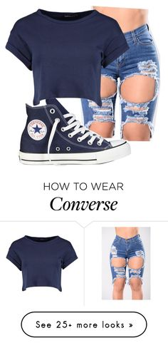 """""""Beast"""" by vjur-tw on Polyvore featuring Converse and Boohoo"""