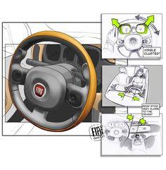 Fiat Panda  interior design
