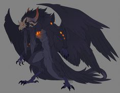 Another dood of Drago's meta form lmao, the even more feral version, the one even more closer to his demon familiar's appearance. Hence the four wings and no human face. It might be a thing during the events of Legion, as his control over his own...