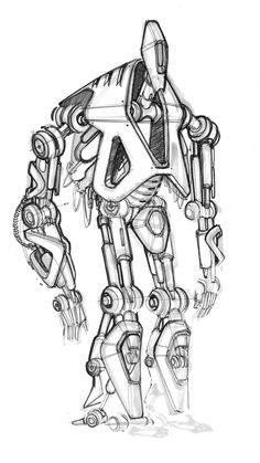 Sketch of a Robot by designer Spencer Nugent