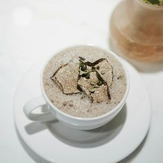 Not just your average mushroom soup - the Cappuccino Di Porcini E Tartufo from Fratelli is topped with Black Truffle Shavings, bringing it to an all new level.  Credits: @bertillawong