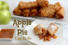 Curry and Comfort: Apple Pie Egg Rolls