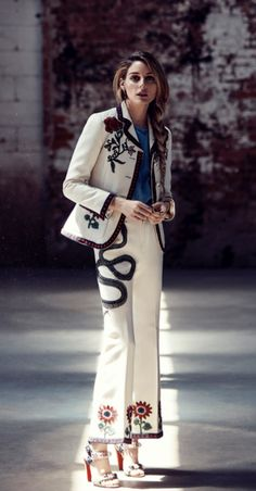 Olivia Palermo in a Gucci suit.