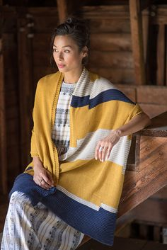 This generous stole is knit flat with small sections of intarsia to create a stunning, one-of-a-kind shawl knitting pattern. Yarn Projects, Knitting Projects, Hand Knitting, Knitting Patterns, Knitting Scarves, Prayer Shawl, Wrap Pattern, Colour Field, Knitting Accessories