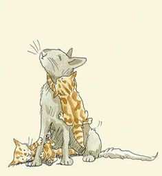 ABC of Kittens copy Anita Jeram, Image Chat, Cat Comics, Here Kitty Kitty, Cat Drawing, Cute Illustration, Crazy Cats, Cat Art, Illustrations Posters
