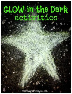 25 Glow in the Dark Kids Activities Learning Activities, Summer Activities, Kids Learning, Outdoor Activities, Fun Games, Games For Kids, Kids Fun, Party Games, Fun Crafts