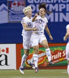 Olympics - USA Soccer - Alex Morgan & Megan Rapinoe love them so much, such an inspiration as well